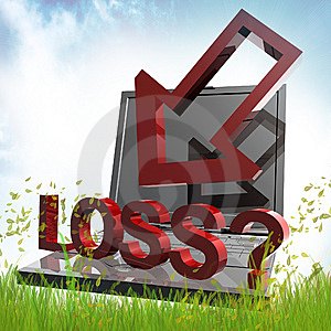 Online Trading Loss Symbol Royalty Free Stock Photography - Image: 14078497