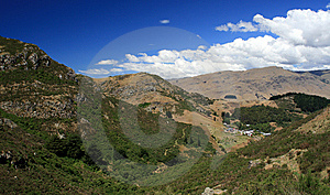 A Small Town Among Hills Royalty Free Stock Photos - Image: 14079208