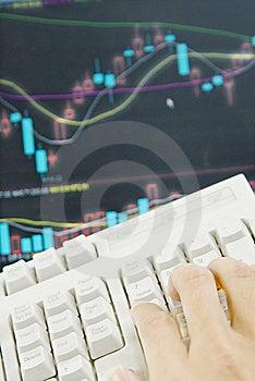 A Hand Operating Keyboard Royalty Free Stock Image - Image: 14079486
