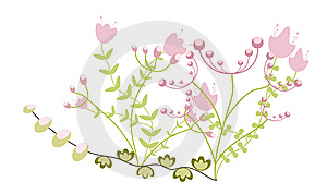 Childlike Floral Greeting Royalty Free Stock Images - Image: 14079649