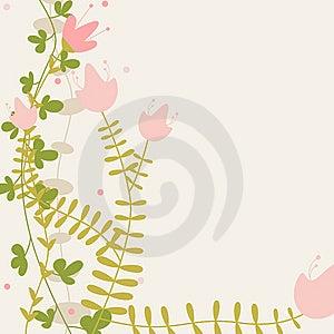 Childlike Floral Greeting Royalty Free Stock Image - Image: 14079656