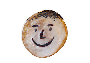 Smiley Face Cake Stock Image - Image: 14080631