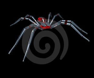 Metall Spider - 3D. Royalty Free Stock Photo - Image: 14082185