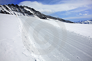 Ski Track In Alps Stock Photo - Image: 14084480
