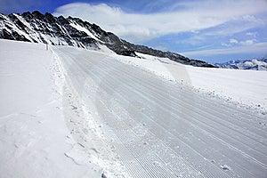 Ski Track In Alps Stock Photo - Image: 14084480