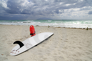 Lifeguard Surfboard Royalty Free Stock Photography - Image: 14084757