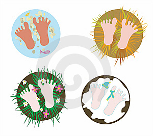 Footsteps Royalty Free Stock Photo - Image: 14085095