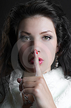 Woman Gesturing For Quiet Or Shushing Royalty Free Stock Photos - Image: 14085578