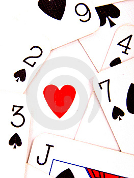 Heart And Spades Stock Photos - Image: 14086233