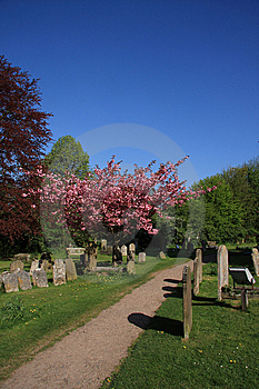 Springtime In The Churchyard Stock Images - Image: 14090434