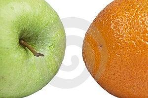 Orange And Apple Royalty Free Stock Image - Image: 14091086
