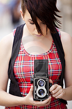 Young Female Photographer Stock Photos - Image: 14091523