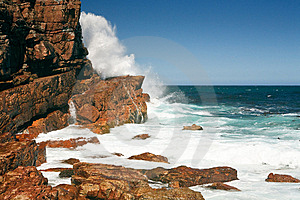 Rough Coast Of The Cape Of Good Hope, South Africa Stock Photos - Image: 14091763