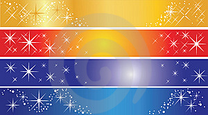 Set Of 4 Holiday Banners Stock Image - Image: 14093301