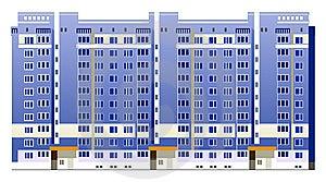 Beautiful Multi-storey Buildings Royalty Free Stock Image - Image: 14094026