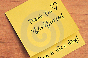 Thank You Note Royalty Free Stock Image - Image: 14095576