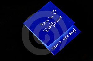Thank You Note Stock Photo - Image: 14095600