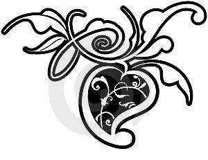 Floral Design Element Royalty Free Stock Images - Image: 14095929