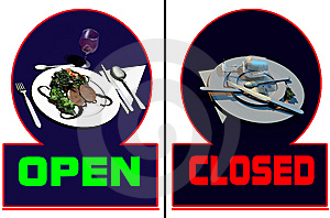 Restaurant Open-closed Stock Image - Image: 14095931