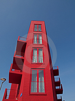 Red Apartments Royalty Free Stock Photography - Image: 14096167