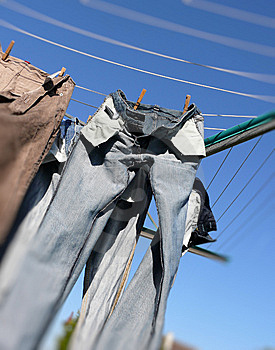 Drying Laundry Royalty Free Stock Images - Image: 14096809