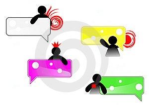 Small Man Grab Tag Icon Royalty Free Stock Image - Image: 14098056