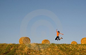 Woman Jumping Royalty Free Stock Photography - Image: 1414087