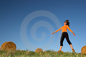 Woman Jumping Stock Images - Image: 1414184