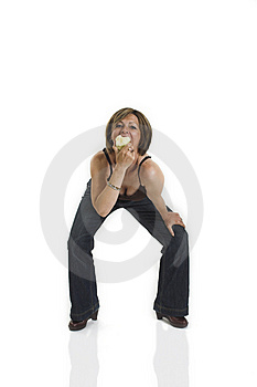 Woman Eating An Apple Royalty Free Stock Photos - Image: 1417728