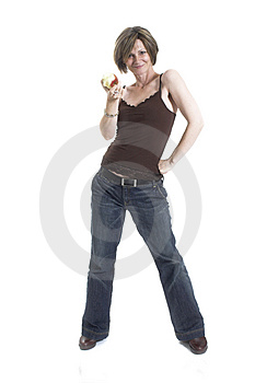 Woman Eating An Apple Stock Image - Image: 1417731