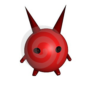 Devil With A Horns Royalty Free Stock Photo - Image: 14101205