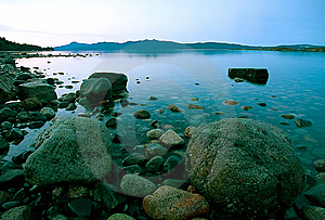 Rocky Beach At Low Tide Royalty Free Stock Images - Image: 14102039