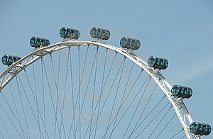Cylindrical Cars On Ferris Wheel Royalty Free Stock Image - Image: 14102256