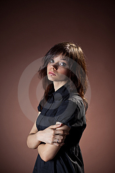 Girl In Black Dress Royalty Free Stock Photography - Image: 14103607