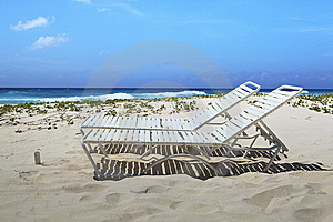 Barbados Lounge Chairs Stock Images - Image: 14107754