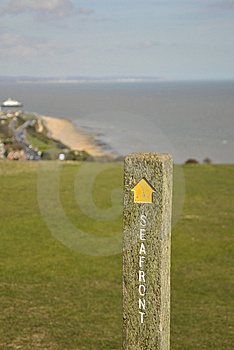Signpost On South Downs Way Stock Photography - Image: 14108182