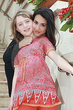 Young Woman And Young Teenager Royalty Free Stock Image - Image: 14108916