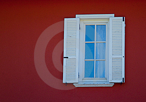 Small White Framed Window Stock Images - Image: 14111814
