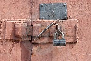 Padlock On A Door Royalty Free Stock Photos - Image: 14111948