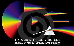 Rainbow Prism Arc Set Stock Photo - Image: 14115790