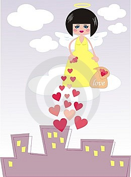 Angel Giving Love Stock Photography - Image: 14116812