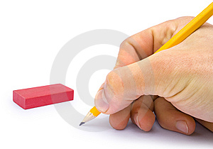 Hand With The Pencil Royalty Free Stock Images - Image: 14117109
