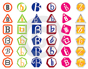 Letter B Icons Badges And Tags Stock Photography - Image: 14118662
