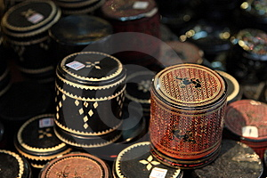 Gild Box With Lection Royalty Free Stock Images - Image: 14120319