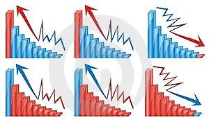 3d Graphics Chart Blue And Red Stock Photo - Image: 14121420
