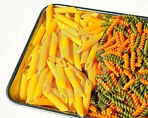 Pasta On A Tray Stock Photos - Image: 14121483