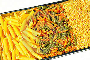 Pasta On A Tray Royalty Free Stock Photo - Image: 14121525