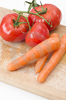 Fresh Tomatoes And Carrot Stock Photography - Image: 14122692