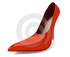 Red Women's Shoe Stock Image - Image: 14124231