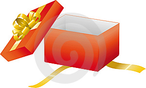 Red Open Gift Box Royalty Free Stock Photography - Image: 14125237